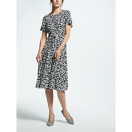 Weekend MaxMara Square Print Jersey Dress- White