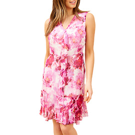 Fenn Wright Manson Petite Colette Dress- Pink/White