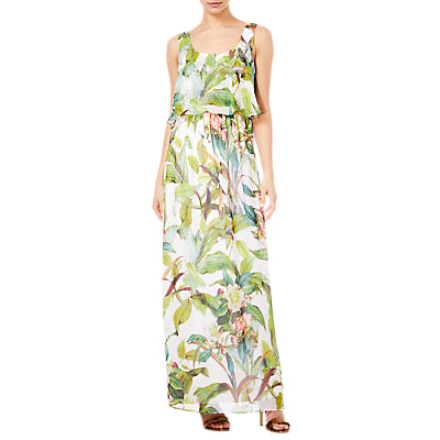 Adrianna Papell Tahitin Tropical Maxi Dress- Ivory/Multi