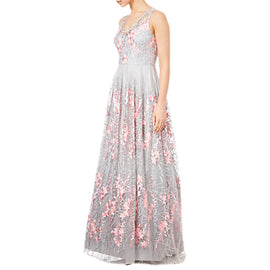 Adrianna Papell Sleeveless Long Dress- Pink