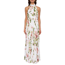 Ted Baker Harmony Pleated Maxi Dress- White