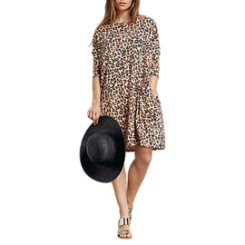 hush Leopard Print Ivy Dress- Multi
