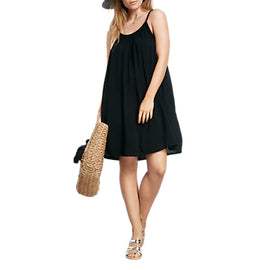 hush Grecian Dress- Black