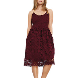 hush Skylar Lace Dress- Wine