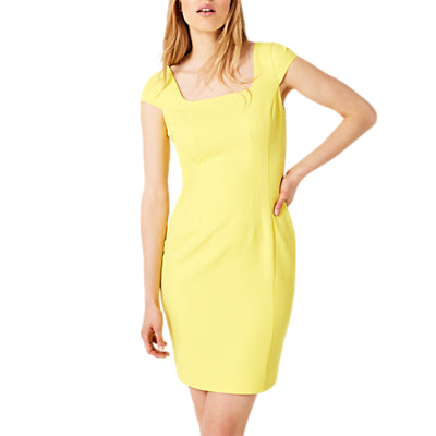 Damsel in a Dress Sheridan Fitted Dress- Yellow