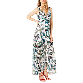 Damsel in a Dress Nadia Snake Palm Maxi Dress- Multi