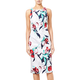 Adrianna Papell Dynasty Floral Pencil Dress- Multi