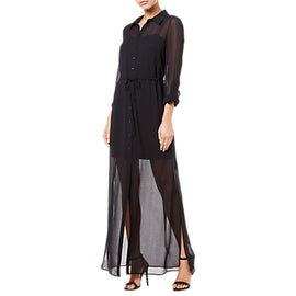 Adrianna Papell Spider Maxi Dress- Black