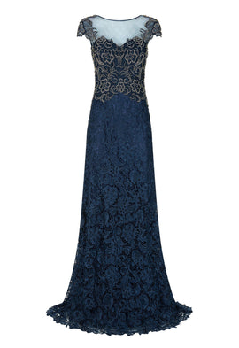 Dynasty Swift Navy Lace Maxi Dress