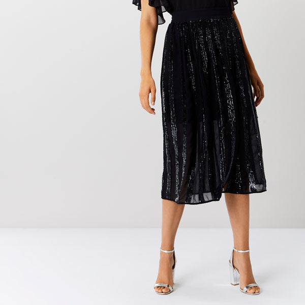 Joey Panelled Sequin Skirt
