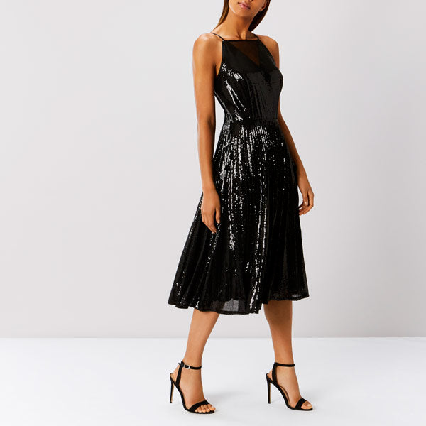 Vivianna Pleated Sequin Dress