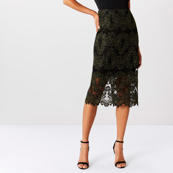 Layla Lace Pencil Skirt