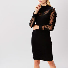 Cecil Lace Trim Knit Dress