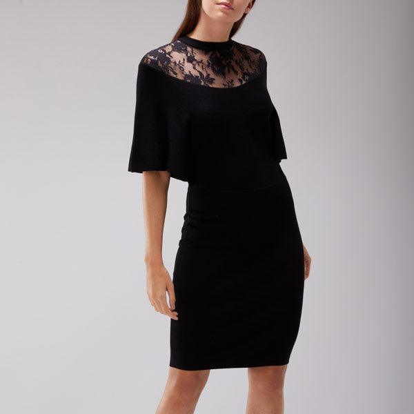 Remy Lace Trim Knit Dress