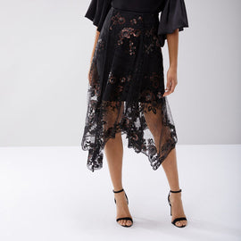 Ruth Lace Embroidered Skirt