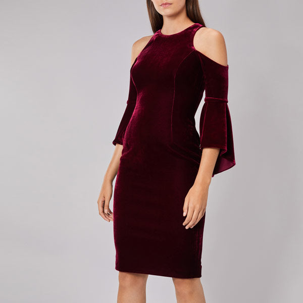 Celestine Velvet Shift Dress