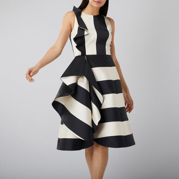 Kemmy Stripe Ruffle Dress