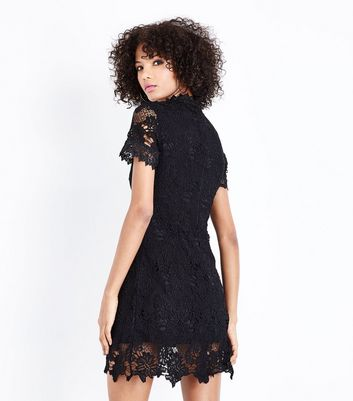 AX Paris Black Lace Funnel Neck Dress New Look
