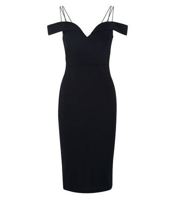 AX Paris Black Strappy Midi Dress New Look