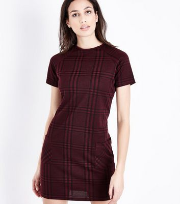 Red Check Tunic Dress New Look