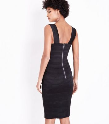 Black Bandage Bodycon Dress New Look