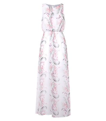 Mela White Tropical Floral Print Maxi Dress New Look