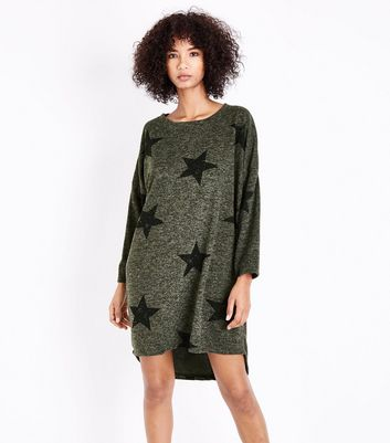 QED Green Star Tunic Dress New Look