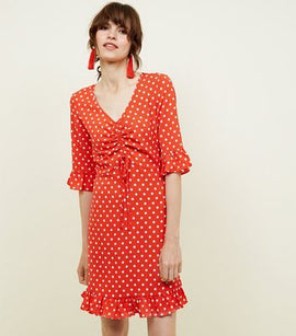 a2e3a6c41ee Blue Vanilla Red Polka Dot Tea Dress New Look
