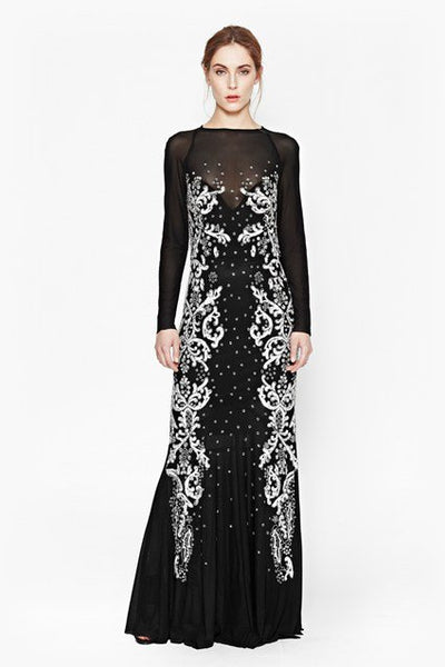 Sequin Maxi Dress - black/silver