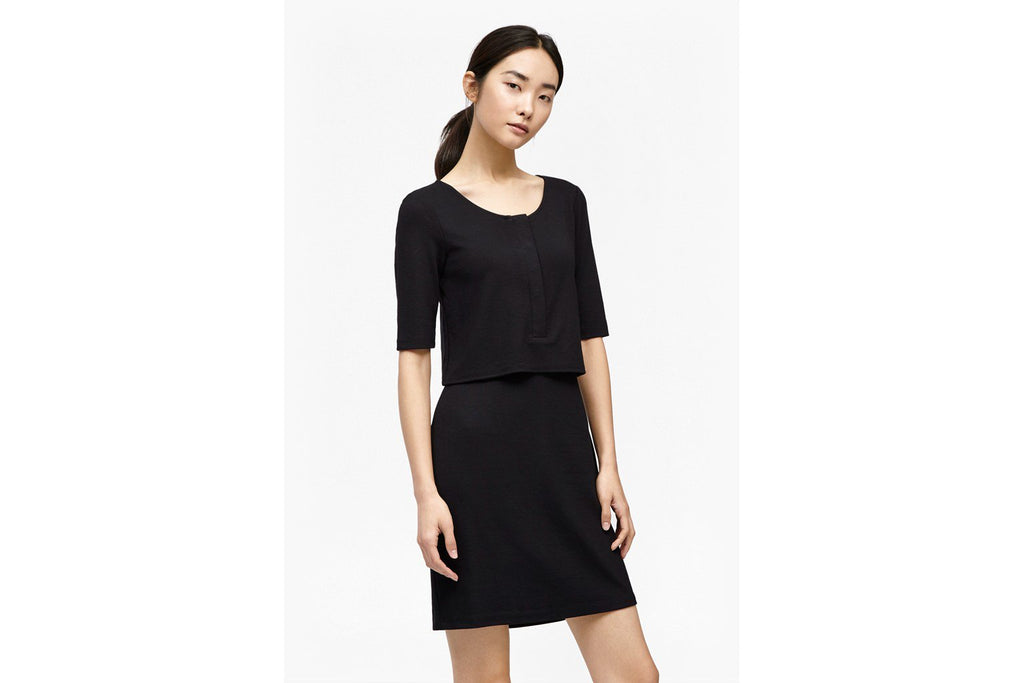 Manhattan Layered Jersey Dress - black