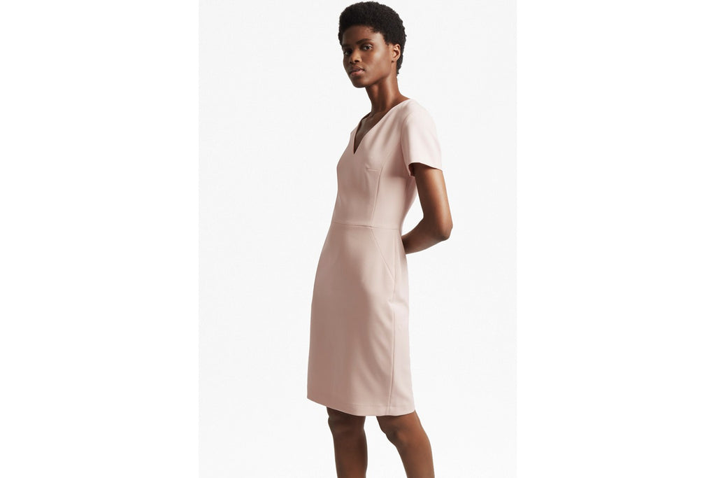 Summer Whisper Light Short Sleeve Dress - pink opal