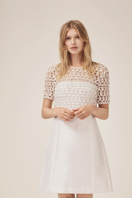 Consenza Sparkle Embellished Wedding Dress - summer white
