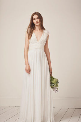 Palmero Embellished Wedding Dress - summer white