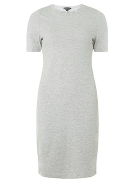 Womens Grey Plain Jersey Bodycon Dress- Grey