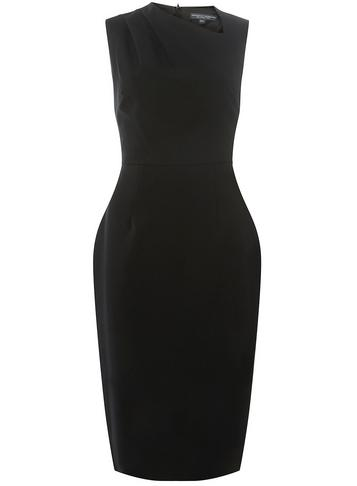 Womens **Tall Black Formal Bodycon Dress- Black- Black