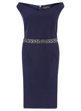 Womens **Showcase Curve Salama Bodycon- Blue- Blue