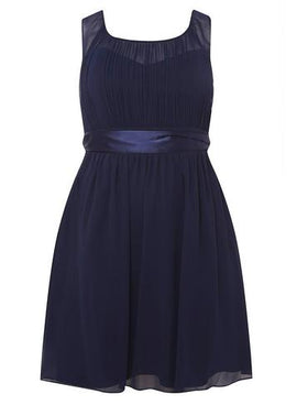 Womens **Showcase Curve Navy 'Beth' Prom Dress- Blue- Blue