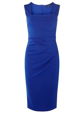Womens **Scarlett B Cobalt Lara Bodycon Dress- Cobalt- Cobalt