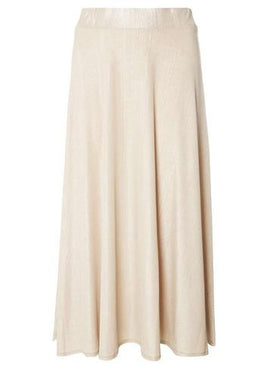 Womens Petite Gold Shimmer Maxi Skirt- Rose Gold- Rose Gold