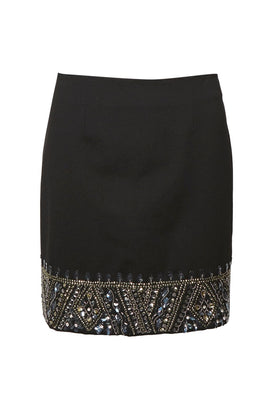 French Connection Deja Sparkle Mini Skirt- Jet