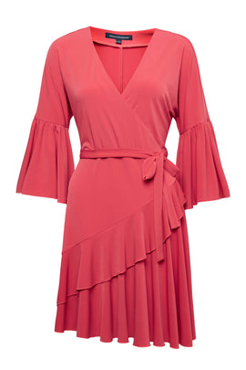 French Connection Ellette Jersey Wrap Dress- Pink