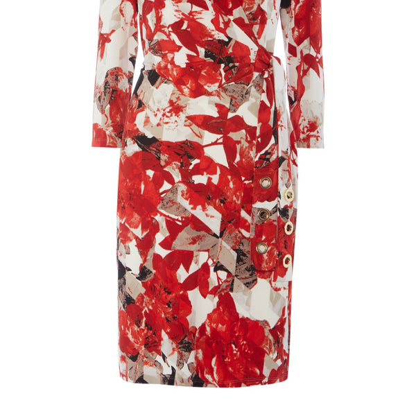 Episode Floral printed dress with tie- Graphic Floral Print