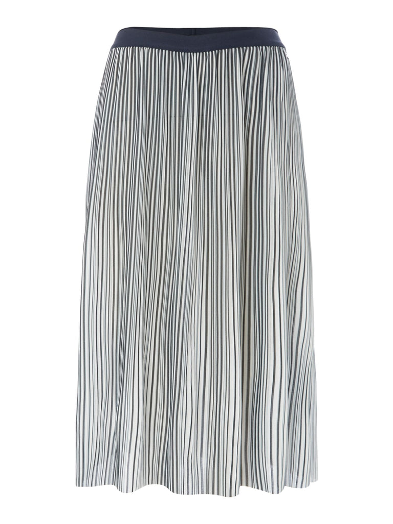Armani Exchange Midi Skirt in Stripe- Multi-Coloured