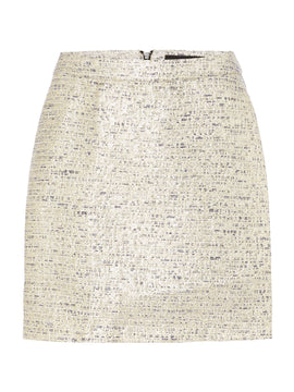 Vero Moda Vero Moda metallic mini skirt- Gold
