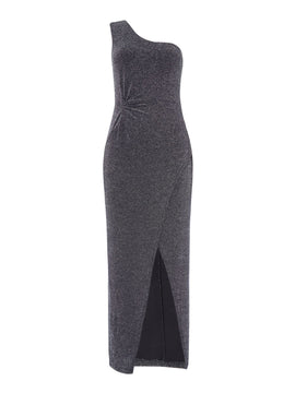 Bardot One shoulder gown- Black