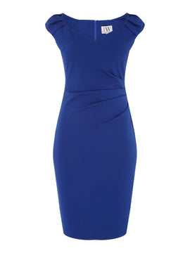 Jessica Wright V neck bodycon dress- Blue