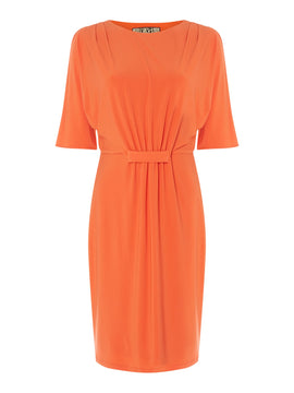 Biba Lace detail jersey dress- Orange