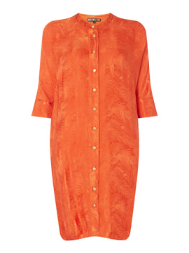 Biba Feather jacquard tunic- Orange