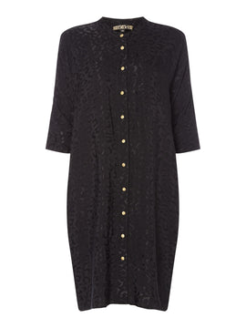 Biba Leopard jaquard tunic dress- Black