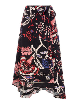 Biba Printed jacquard wrap skirt- Multi-Coloured